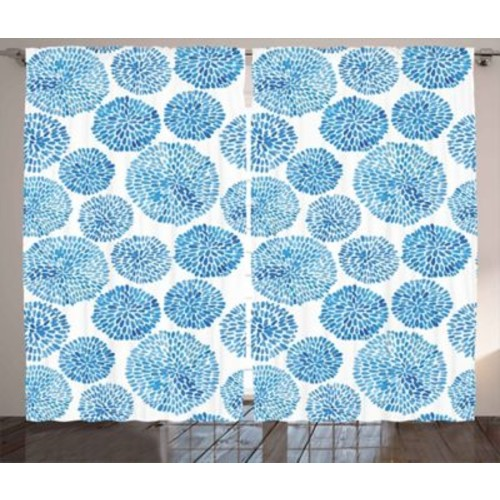 Colton Watercolor Graphic Print and Text Semi-Sheer Rod Pocket Curtain Panels (Set of 2)