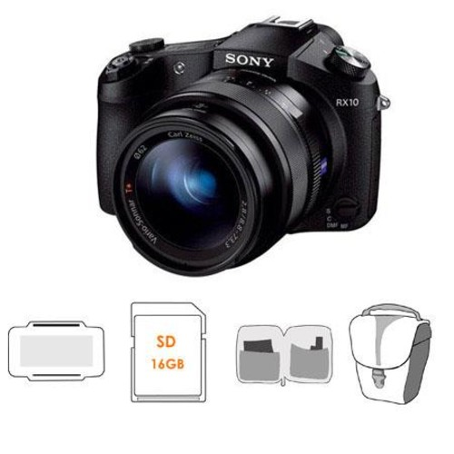 Sony Cyber-Shot DSC-RX10 Digital Camera and Free Accessories DSC-RX10/B A