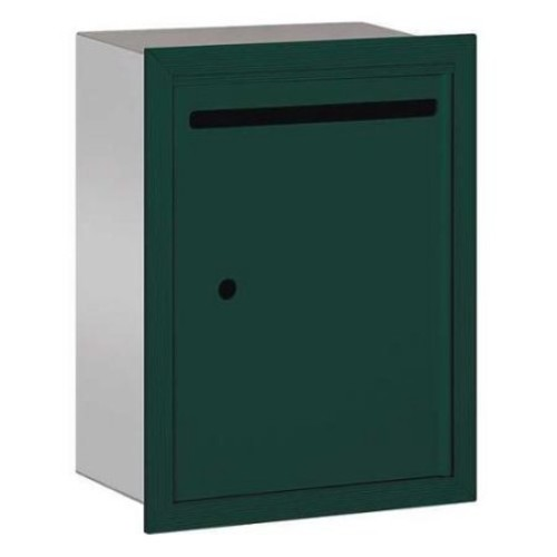 SALSBURY INDUSTRIES 2245GU Letter Box,Standard,Recessed,Green