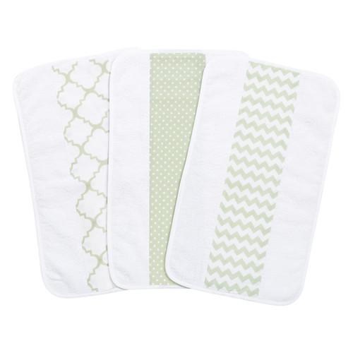 Trend Lab Sea Foam Jumbo Burp Cloth Set (Pack of 3)