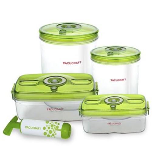 Vacucraft Versatile Vacuum 5 Container Food Storage Set