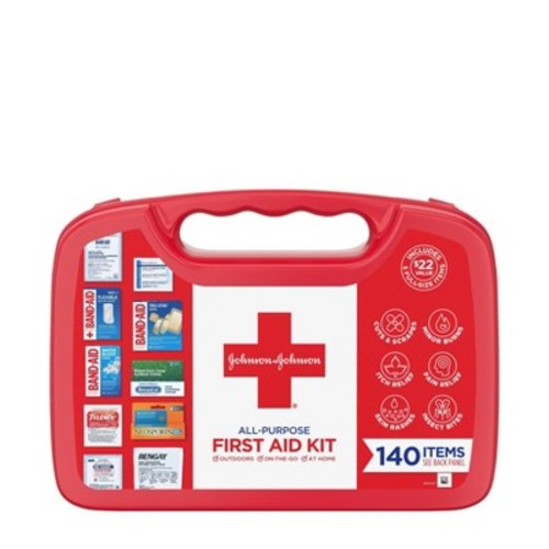Johnson & Johnson All Purpose First Aid Kit - 140ct