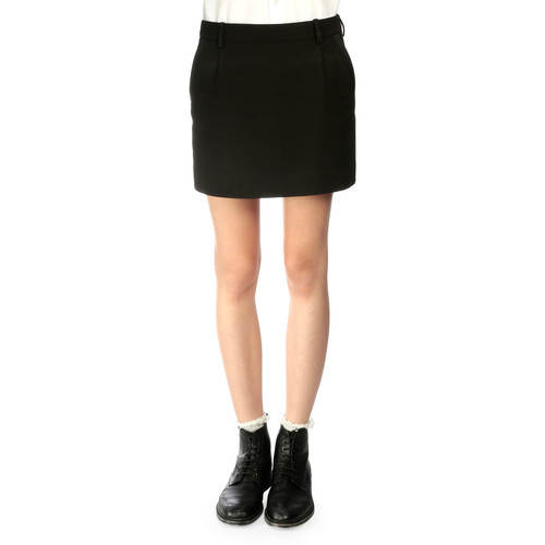 SAINT LAURENT Tuxedo-Striped Wool Mini Skirt
