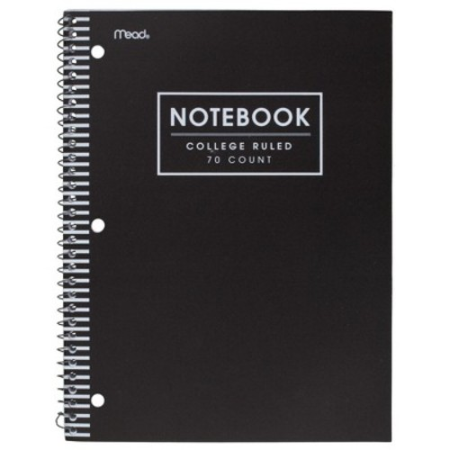 Mead College Ruled 70 Sheets Poly Notebook