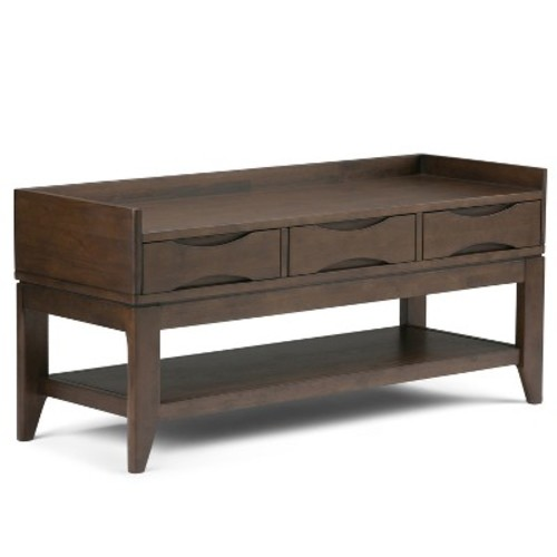 Simpli Home Harper Walnut Brown Bench
