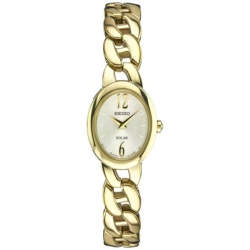 Seiko Women's Solar Gold-Tone Stainless Steel Bracelet Watch 19mm SUP338