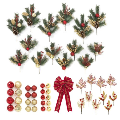 Red and Gold Trim-A-Tree Gift Box (Set of 50-Pieces)