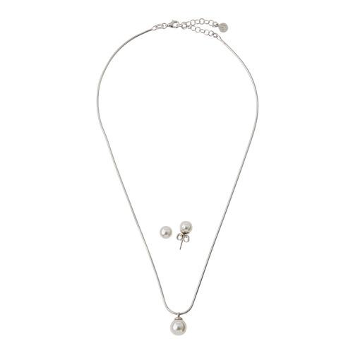 Majorica Pearl Pendant Necklace & Stud Earrings Set