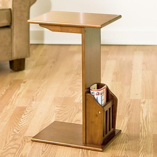 Snack Table & Magazine Rack