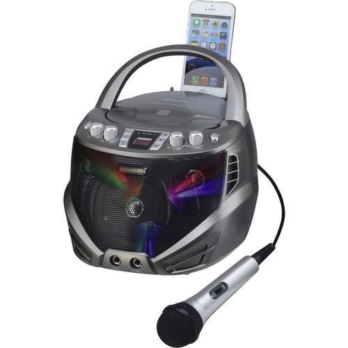 DOK GQ263 Portable CDG Karaoke Player with Flashing LED Lights