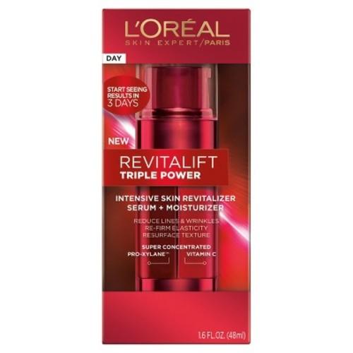 L'Oreal Paris Revitalift Triple Power Intensive Skin Revitalizer Serum + Moisturizer 1.6oz