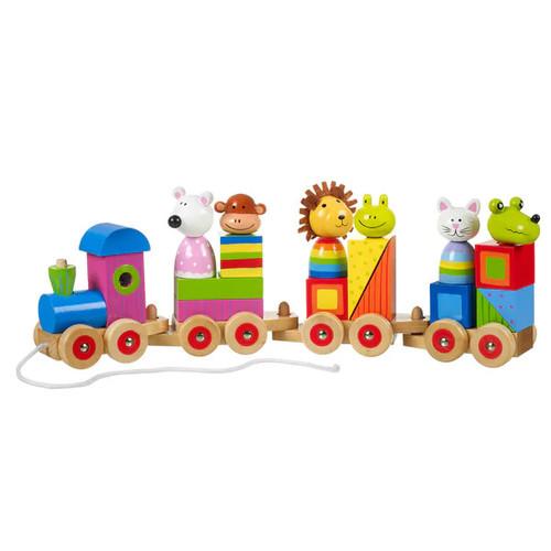 Orange Tree Toys Wooden Animal Puzzle Train