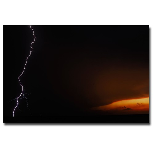 Lightning Sunset VII by Kurt Shaffer, 16x24-Inch Canvas Wall Art: Prints: Posters & Prints [16 by 24-Inch]
