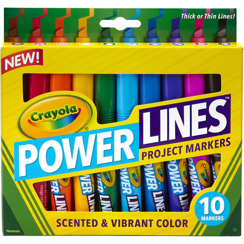 Crayola Power Lines Project Markers 10/Pkg