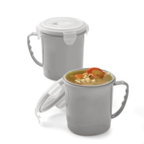 SALT Microwave Soup Mugs in Grey (Set of 2)