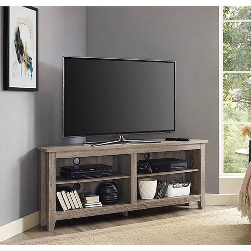 Walker Edison Furniture Company Essentials Driftwood Storage Entertainment Center