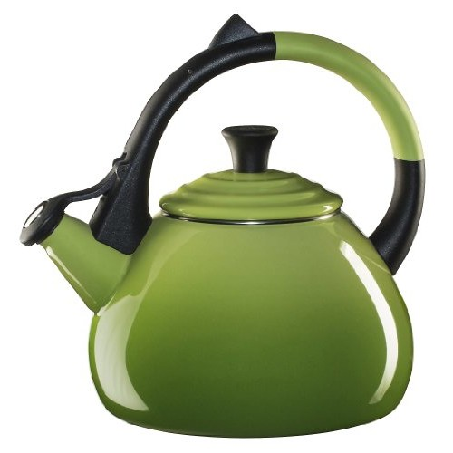 Le Creuset Enameled Steel 1.6 Quart Oolong Tea Kettle, Palm [Palm]