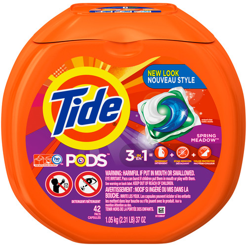 Tide PODS Laundry Detergent, Spring Meadow, 42 count