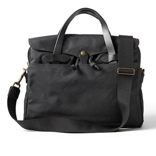 Filson Oil Tin Cloth Original Briefcase, Black 70016-BL