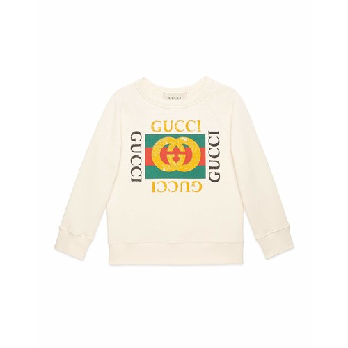 GUCCI Long-Sleeve  Print Sweatshirt, Size 4-12