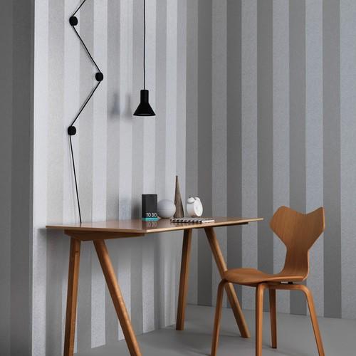 Graham & Brown Silver Artisan Stripe Wallpaper