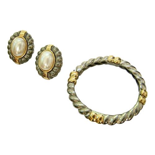 Givenchy Two-Tone Bracelet & Earring Set