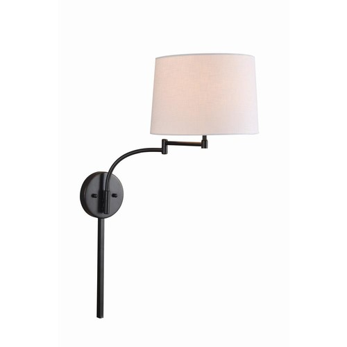 Kenroy Home Seven 1-Light Oil Rubbed Bronze Wall Swing Arm Lamp