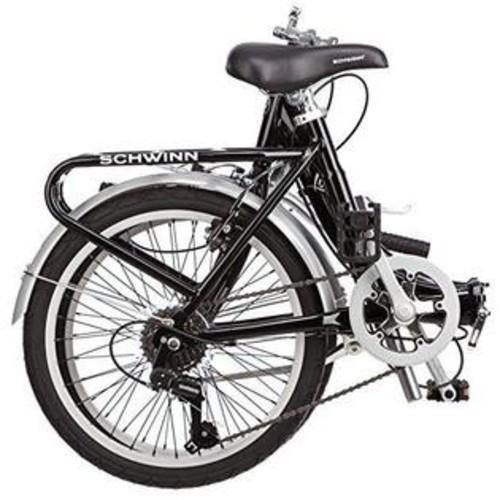 Schwinn Loop 7 Speed FOLDING BICYCLE, 20 Inch City Cycling FOLDING BIKE, Black