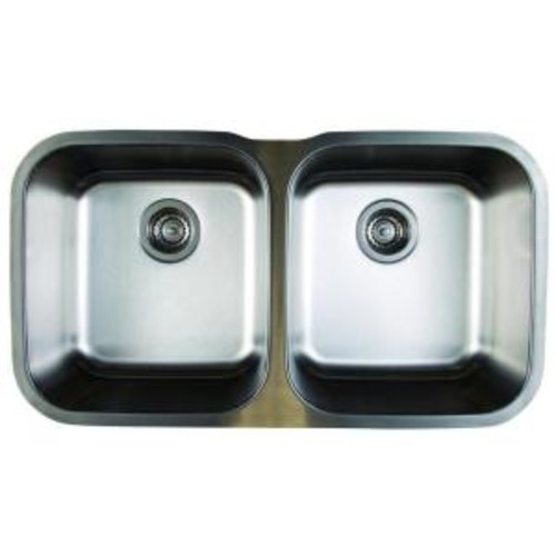 Blanco Stellar Undermount Stainless Steel 33 in. Equal Double Bowl Kitchen Sink