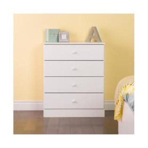 Prepac Astrid 4-Drawer Dresser White WDBR-0401-1