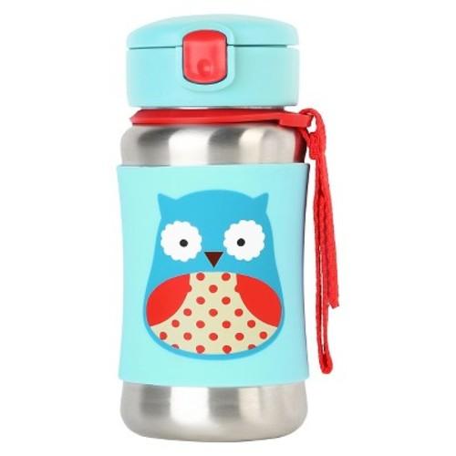 Skip Hop Zoo Stainless Steel Straw Bottle - Owl