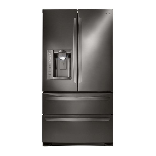 LG Electronics 27.8 cu. ft. French Door Smart Refrigerator with WiFi Enabled in Black Stainless Steel