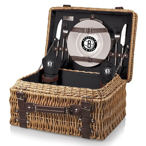 Picnic Time Brooklyn Nets Champion Picnic Basket with Service for 2