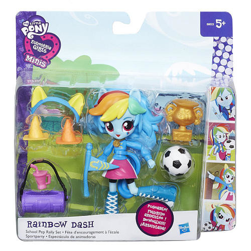 My Little Pony Equestria Girls Minis Rainbow Dash School Pep Rally Playset