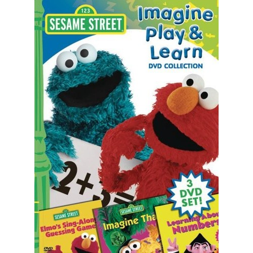 Sesame Street - Imagine, Play, and Learn Collection: (Imagine That / Learning About Numbers / Sing Along Guessing Game)