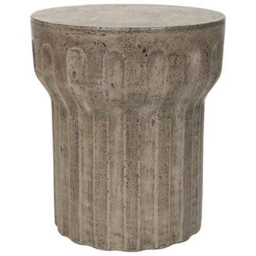 Vesta Round Concrete Accent Table - Safavieh