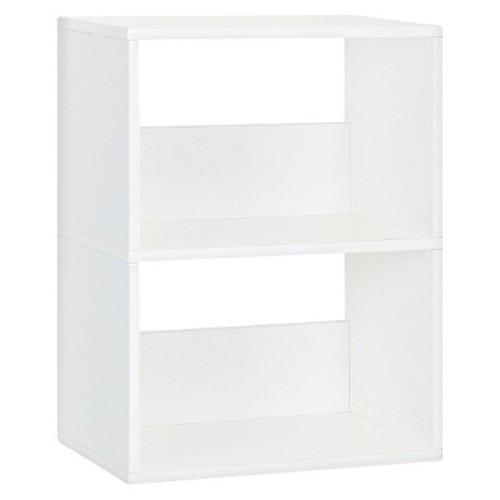 Way Basics 2-Shelf Duplex Narrow Bookcase Shelf, Natural White - Formaldehyde Free - Lifetime Guarantee