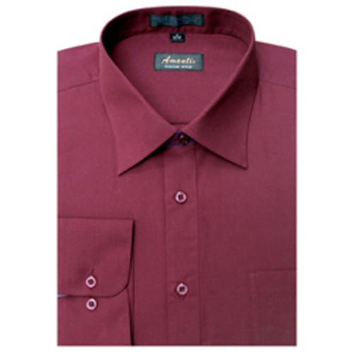 Rashbi Men's Burgundy Dress Shirt