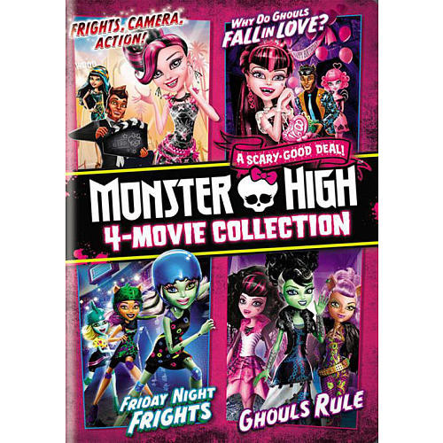 Monster High 4-Movie Collection 3 Disc DVD