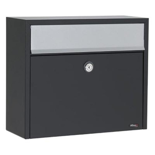 Allux Black Wall-Mount Mailbox