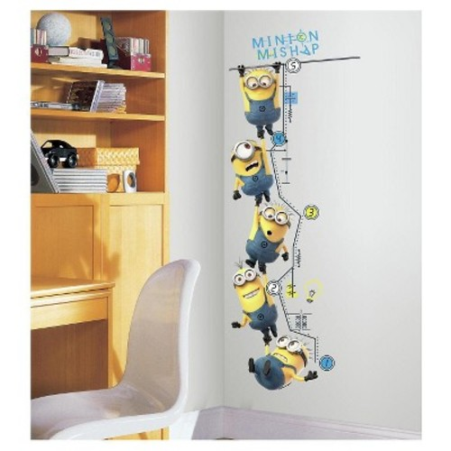 RoomMates Despicable Me 2 Growth Chart Peel and Stick Wall Decals