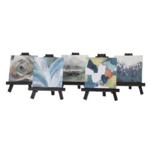 Woodland Imports Beth Kushnick 5 Piece Tripod Easel Set