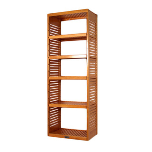 Windsor Home 4-Tier Wood Storage Shelving Rack with Removable Cover