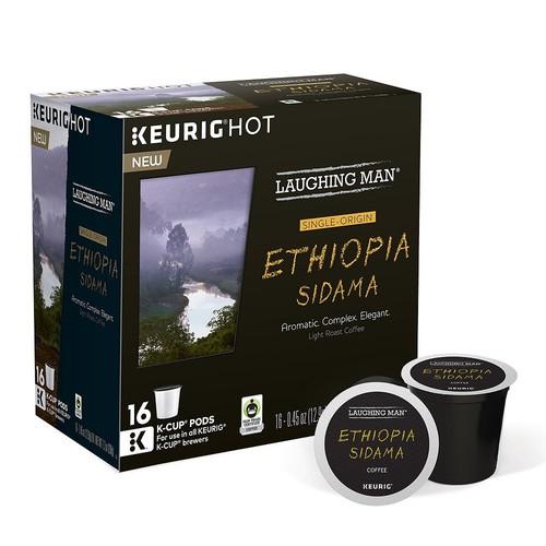 Keurig - Laughing Man Ethiopia Sidama K-Cup Pods (16-Pack) - Brown