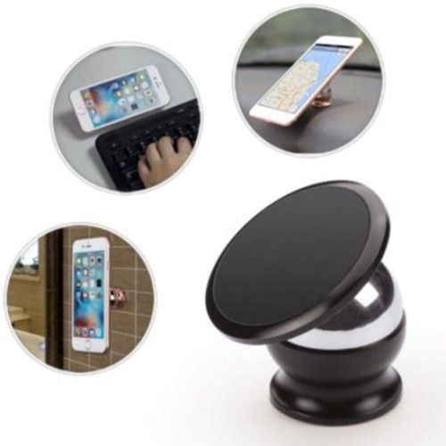 Insten Universal Magnetic Holder Car Mount for iPhone 6s Plus SE Samsung Galaxy S7 S6 Edge Note 5 4 Smartphone - Black