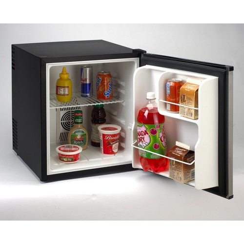 SHP1702SS 1.7 cu. ft. Superconductor Compact Refrigerator with 2 Slide-out Wire Shelves Interior Light 2-Liter Bottle Storage No Vibration and Reversible Door: Stainless