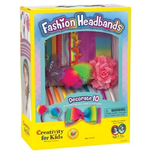 Creativity for Kids Fashion Headbands Craft Kit, Makes 10 Unique Hair Accessories [Original Fashion Headbands]