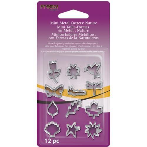 Premo Mini Metal Cutters 12/Pkg-Nature