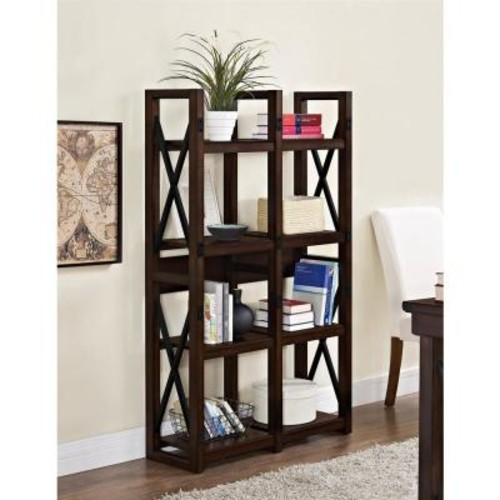 Altra Furniture Wildwood Mahogany Open Bookcase
