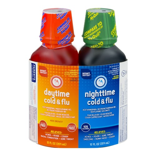 Smart Sense Daytime/Nighttime Cold & Flu 12.0 FL OZ